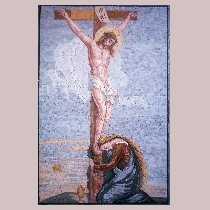 Mosaic Crucified Jesus