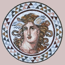 Mosaic Medusa from Athens