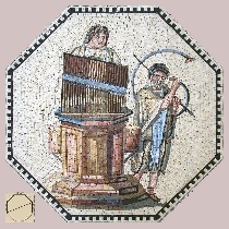 Mosaic Musicians with organ and tuba