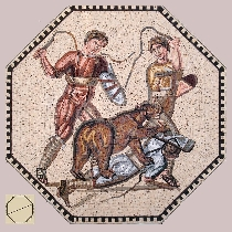 Mosaic Fight with the bear
