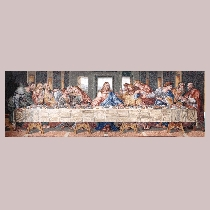 Mosaic Leonardo da Vinci: The last Supper