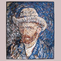 Mosaic van Gogh: Self Portrait