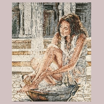 Mosaic Andy Lloyd: Woman Bathing