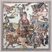 Mosaic Orpheus from Shahba