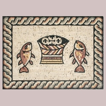 Mosaic Fish and Bread