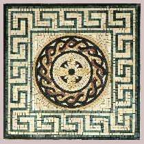 Mosaic Greek-Roman medallion