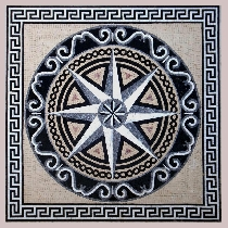 Mosaic Compass rose