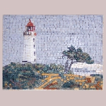 Mosaic Lighthouse Hiddensee Dornbusch