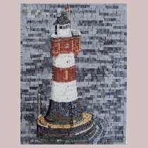 Mosaic Lighthouse Red Sand