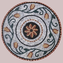 Mosaic flower medallion