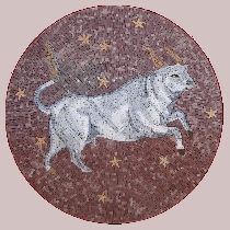 Mosaic sign of the zodiac taurus