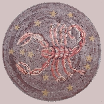 Mosaic sign of the zodiac scorpio