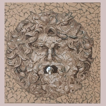 Mosaic fountain mask
